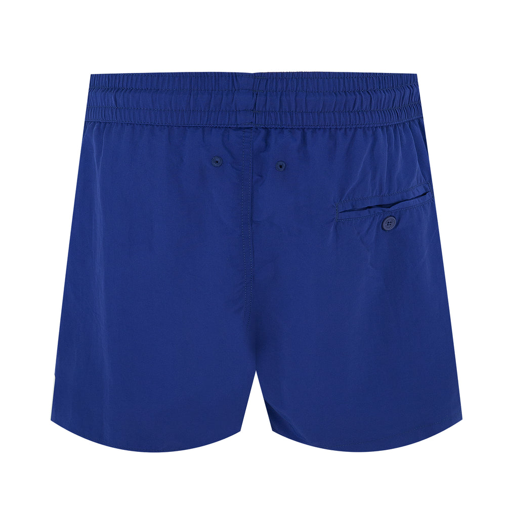 mens luxury swim trunks in navy blue