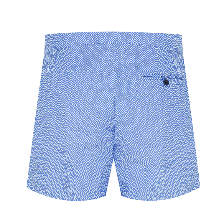 tailored swim shorts in light blue size guide