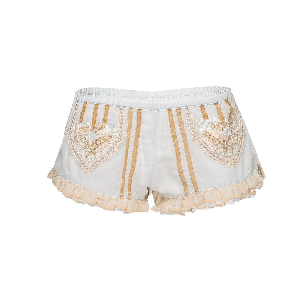 Diamond Shorts Light Blue