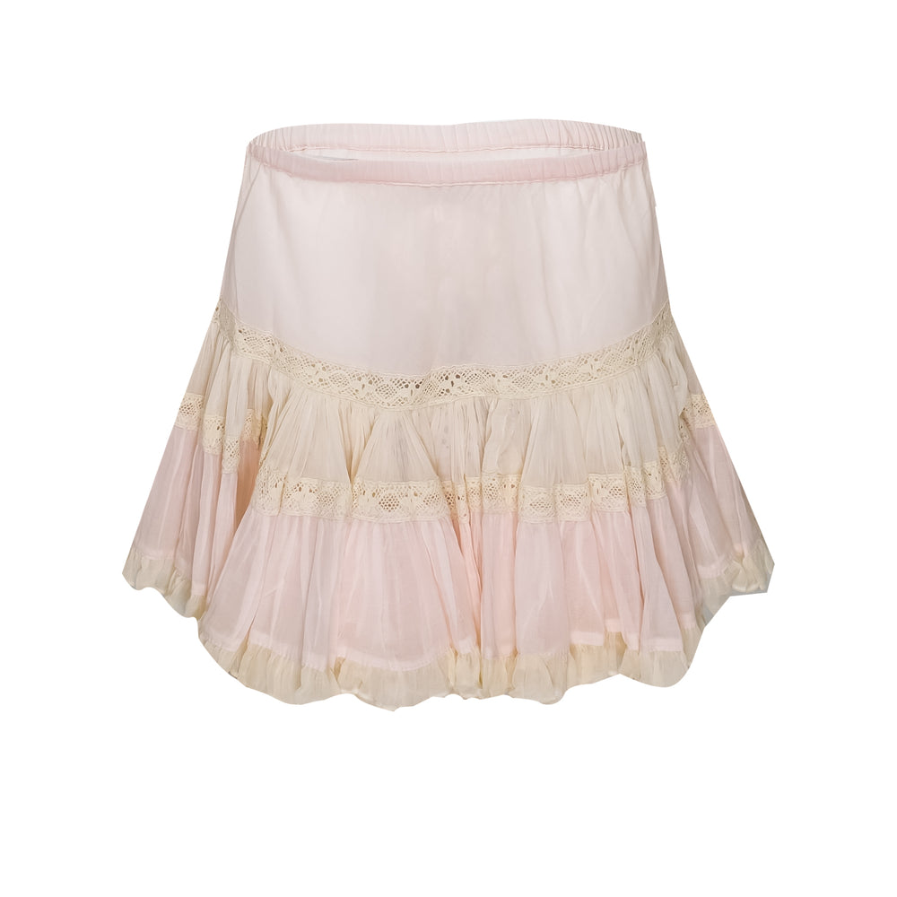 Frill Short Skirt Light Pink