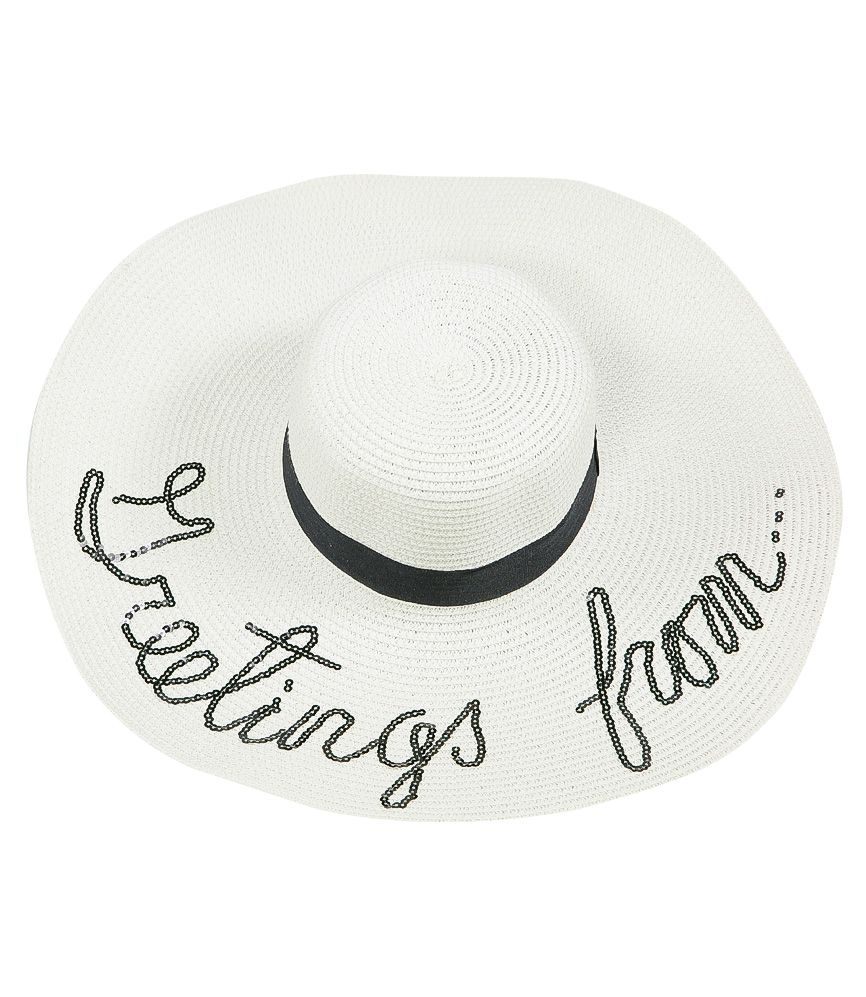 SD Select Personalised Sun Hat in White