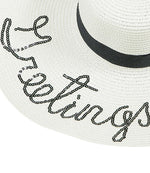 personalised sun hat ladies white sun hat
