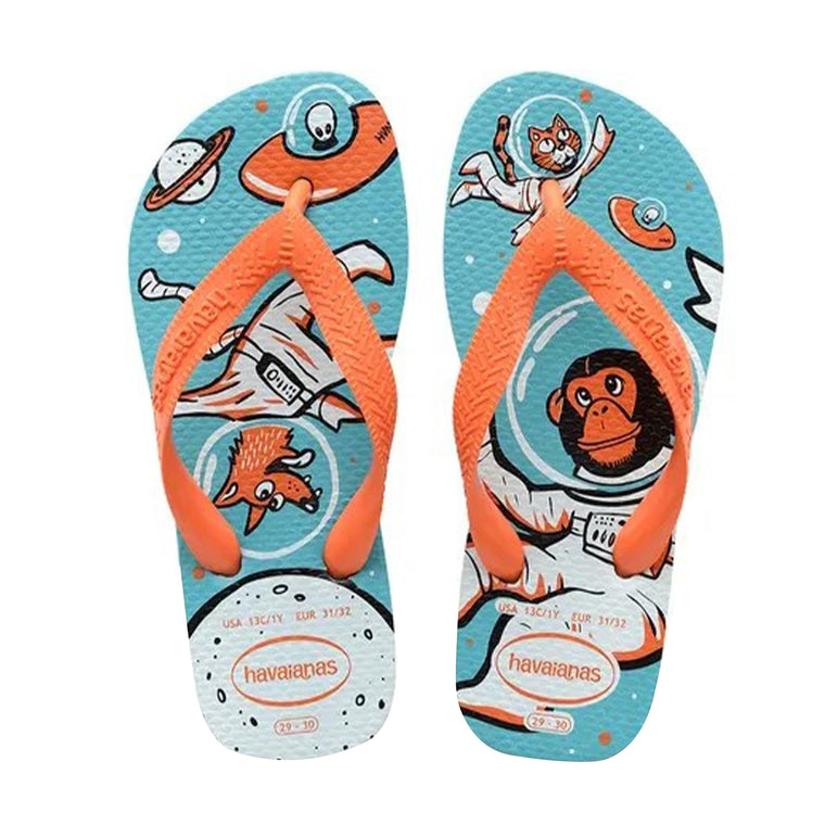 Kids Radical Flip Flops Blue/Orange