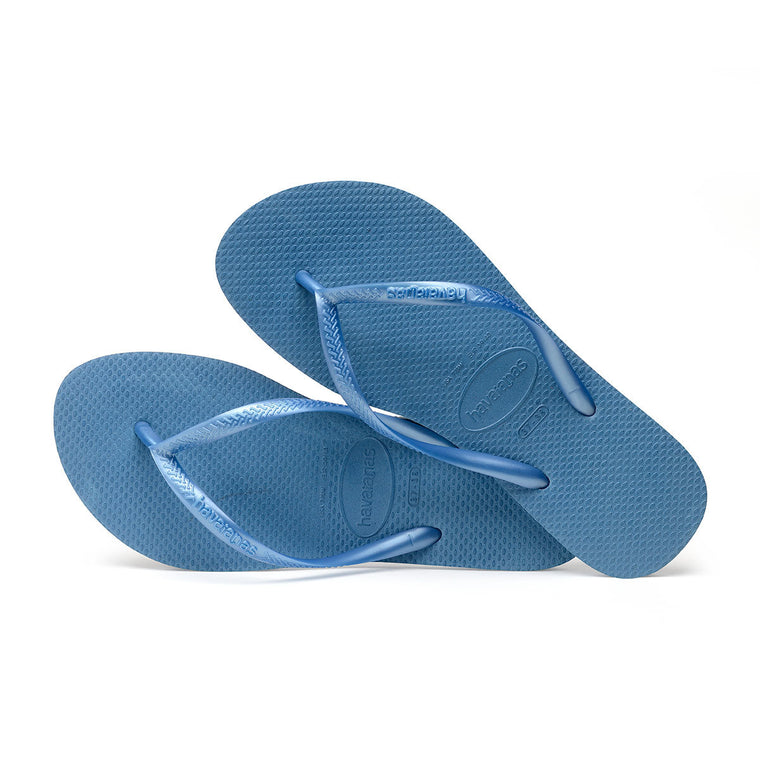 Womens Slim Flip Flops Blue
