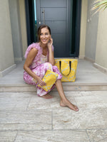Moroccan Star Tote Bag Yellow