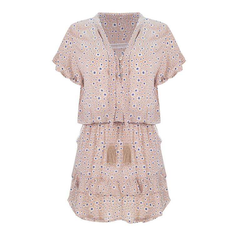 Izzy Dress Mocha Daisy