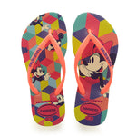 Kids Disney Cool Flip Flops Neon Yellow
