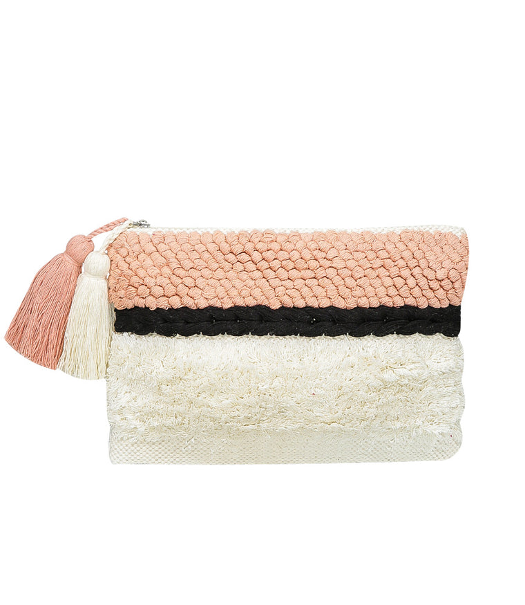 SD Select Striped Beach Clutch Bag