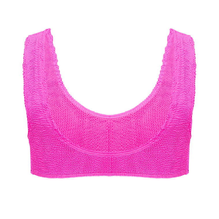 Barcelona Crop Bikini Top in Pink