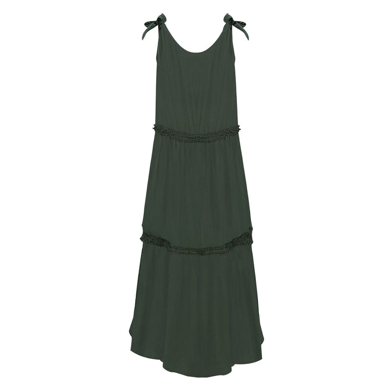 Lucy Khaki Long Dress