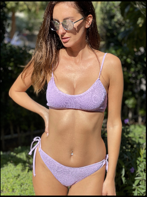Maldives Bikini Top Purple Rose