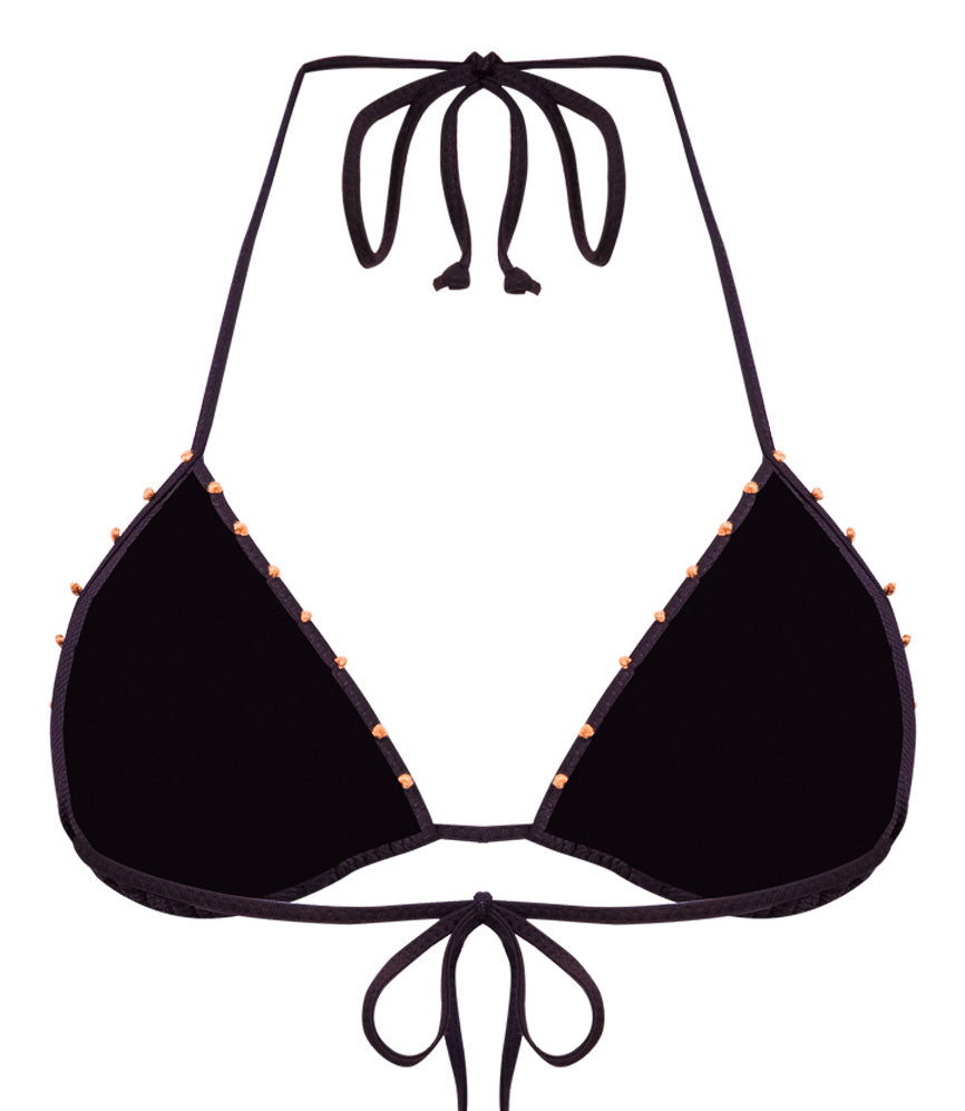 luxury black halter neck bikini