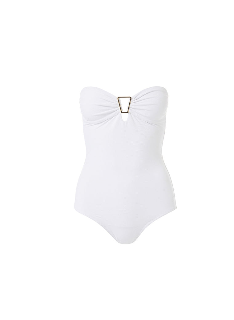 Melissa Odabash Argentina One Piece White Pique