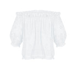 Francesca Off Shoulder Top White