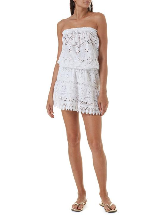 Iris Bandeau Short Dress White