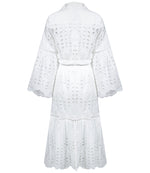 white cotton summer dress with belt
