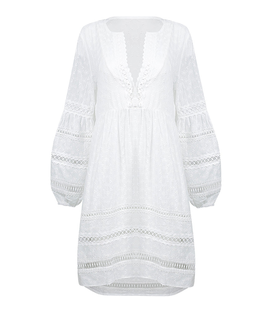 Miss June White Lace Beach Dress | Sand Dollar UK
