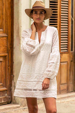 White Cotton Lace Beach Dress | Sand Dollar UK