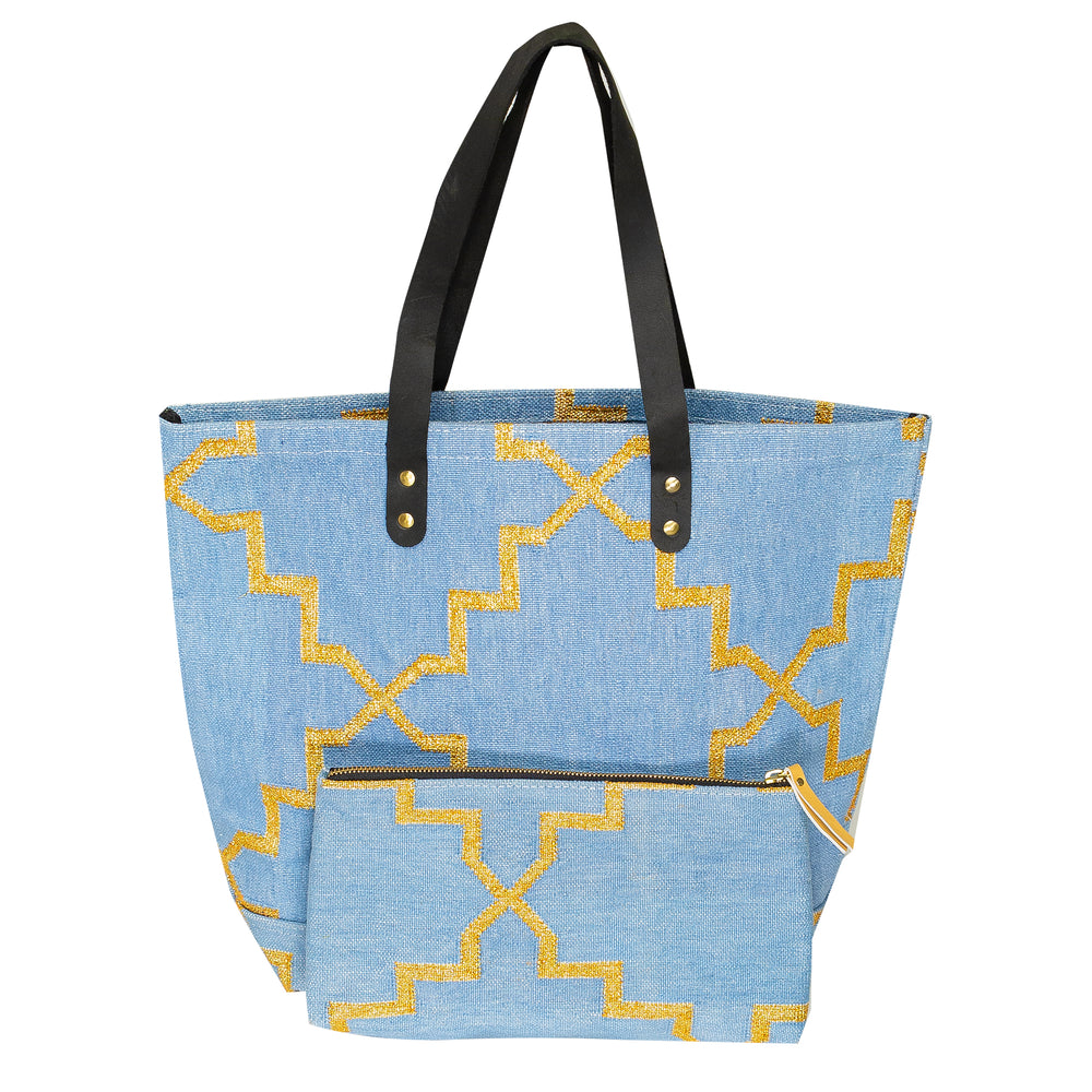 Moroccan Star Pouch Blue