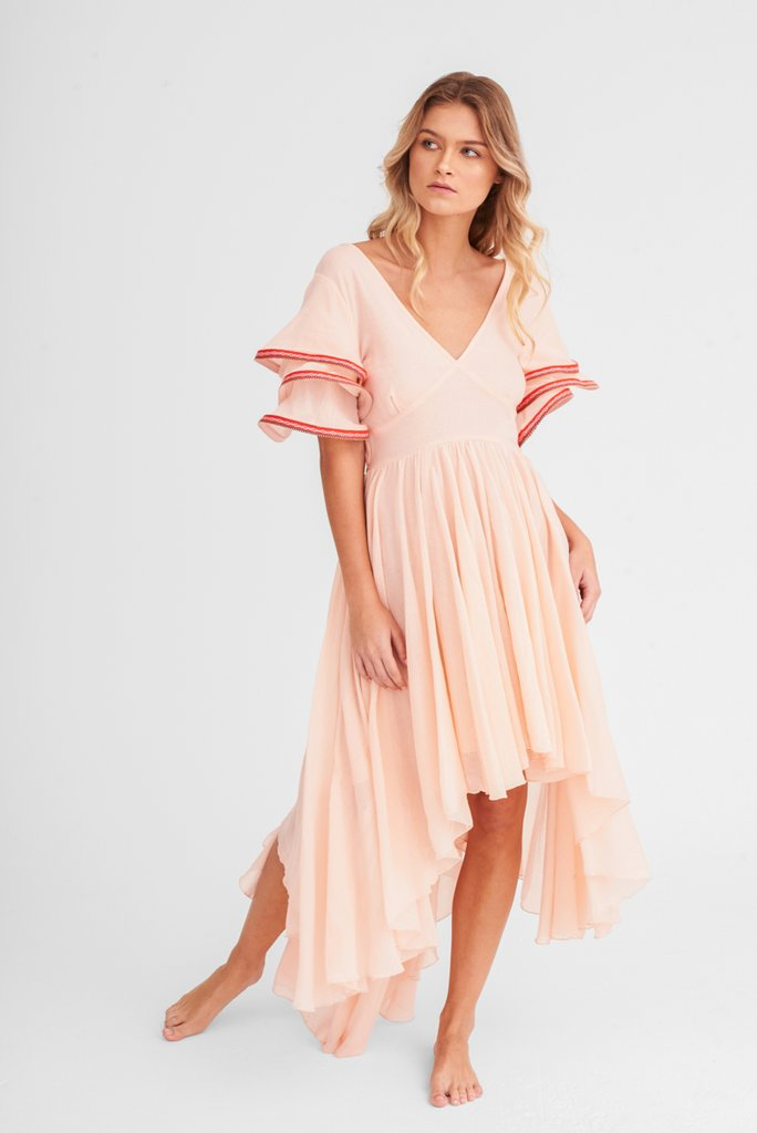 High Low Dress in Pink