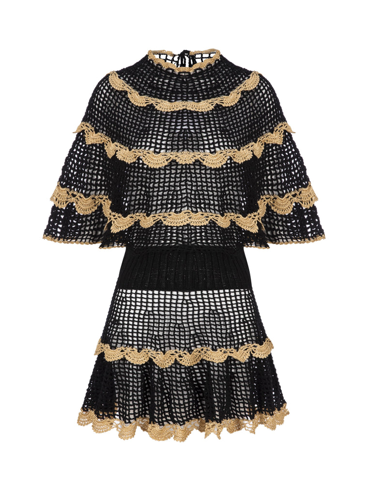 Alizze Hand Knitted Dress Black