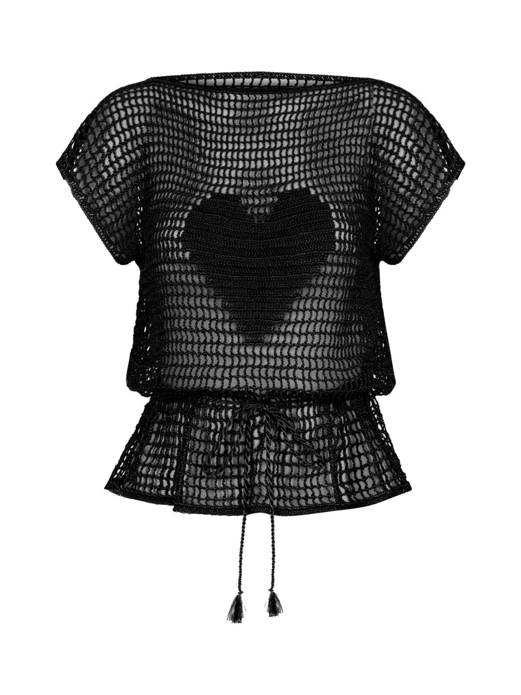 Flos Hand Knitted Blouse Black