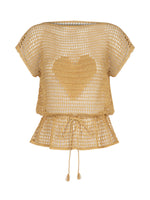 Flos Hand Knitted Blouse Gold