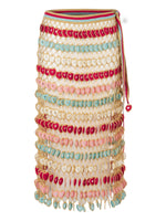 Heart Hand Knitted Maxi Skirt Multi Colour