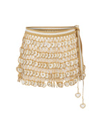Heart Hand Knitted Mini Skirt Cream