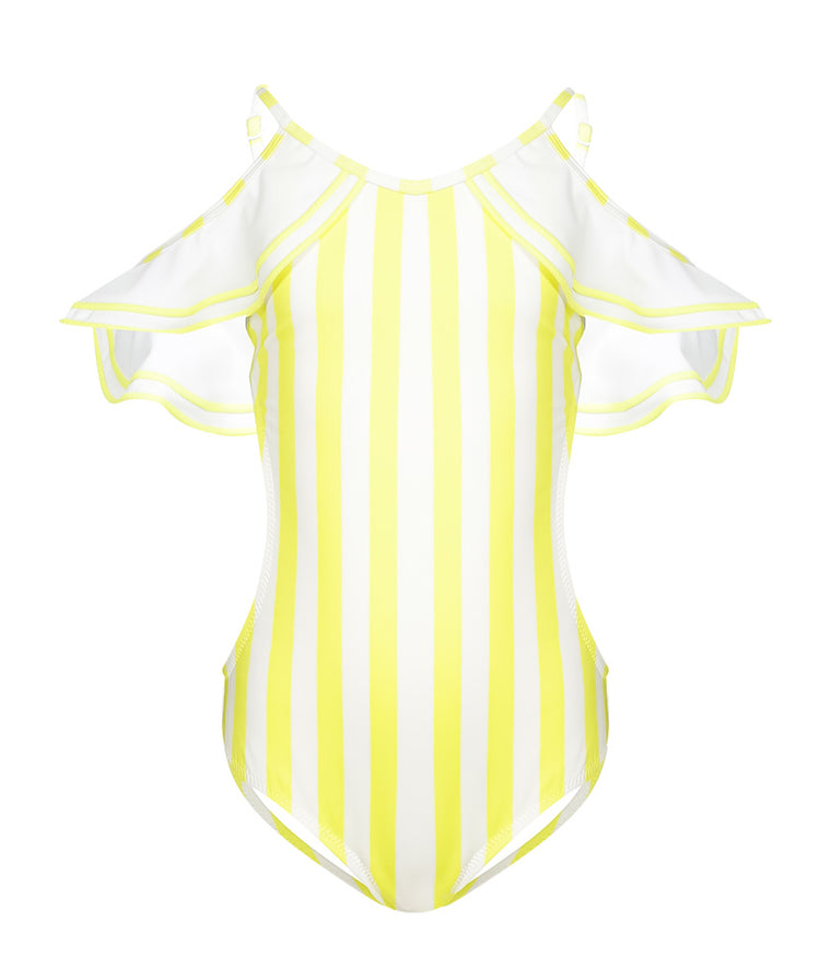 Nessi Byrd Cheiri Open Shoulder Swimsuit