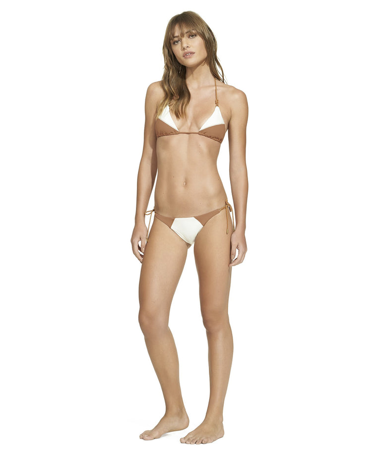 Betsey Long Tie Full Bottom Off White