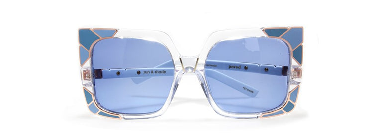 Pared Eyewear Blue Tinted Womens Sunglasses