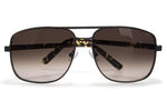 Pared Uptown & Downtown Matte Black/Brown Sunglasses