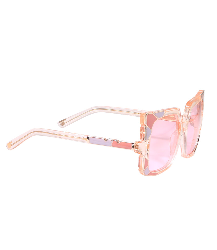 Pared Sun & Shade Pink/Rose Gold Sunglasses
