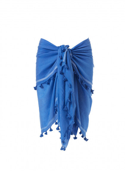 Beach Wrap Skirt in Blue