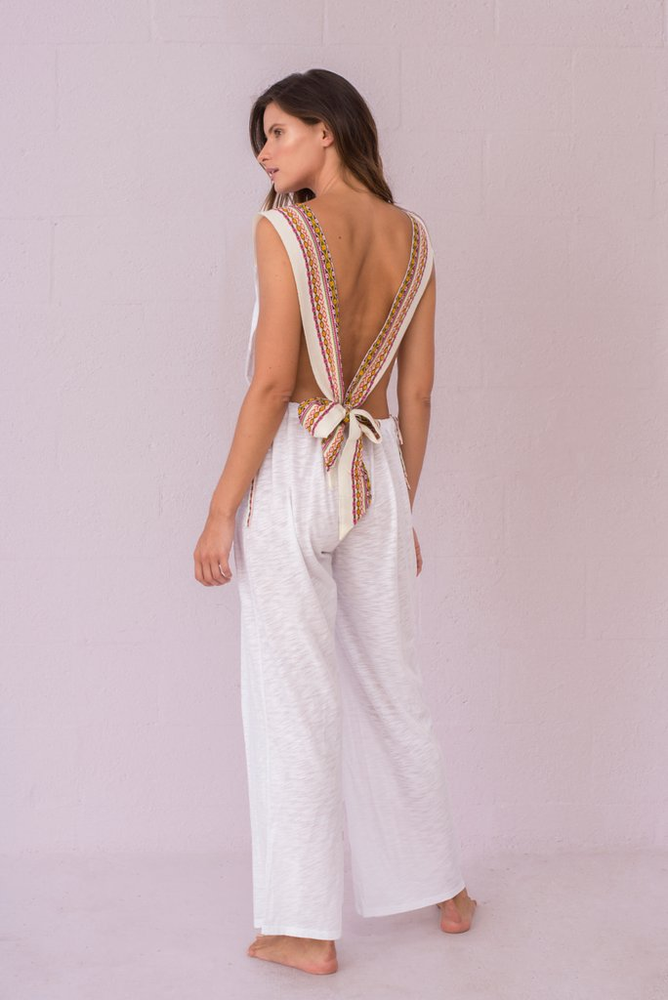 boho open back jumpsuit | Sand Dollar UK