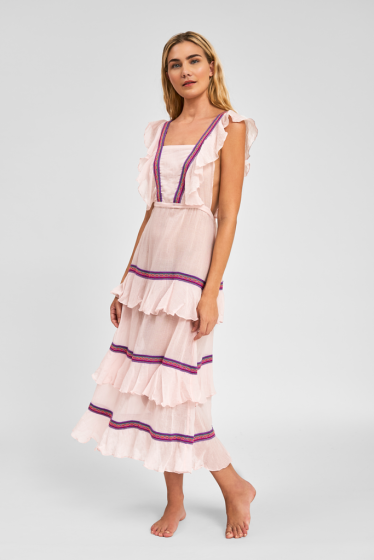 Sleeveless Maxi Dress in Light Pink