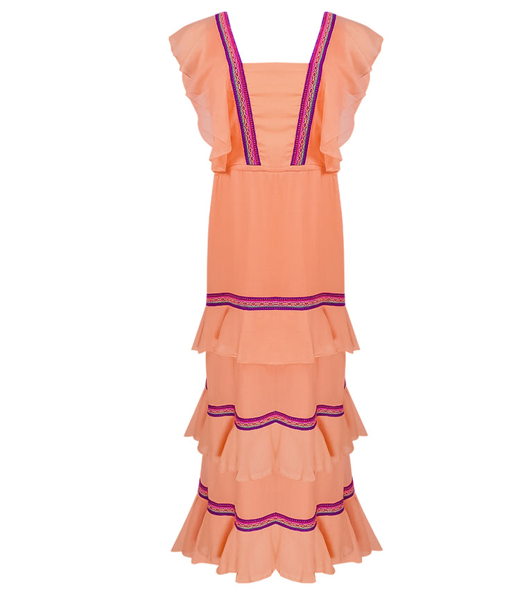 ca24078b49c Pitusa Eve Summer Dress Pale Orange