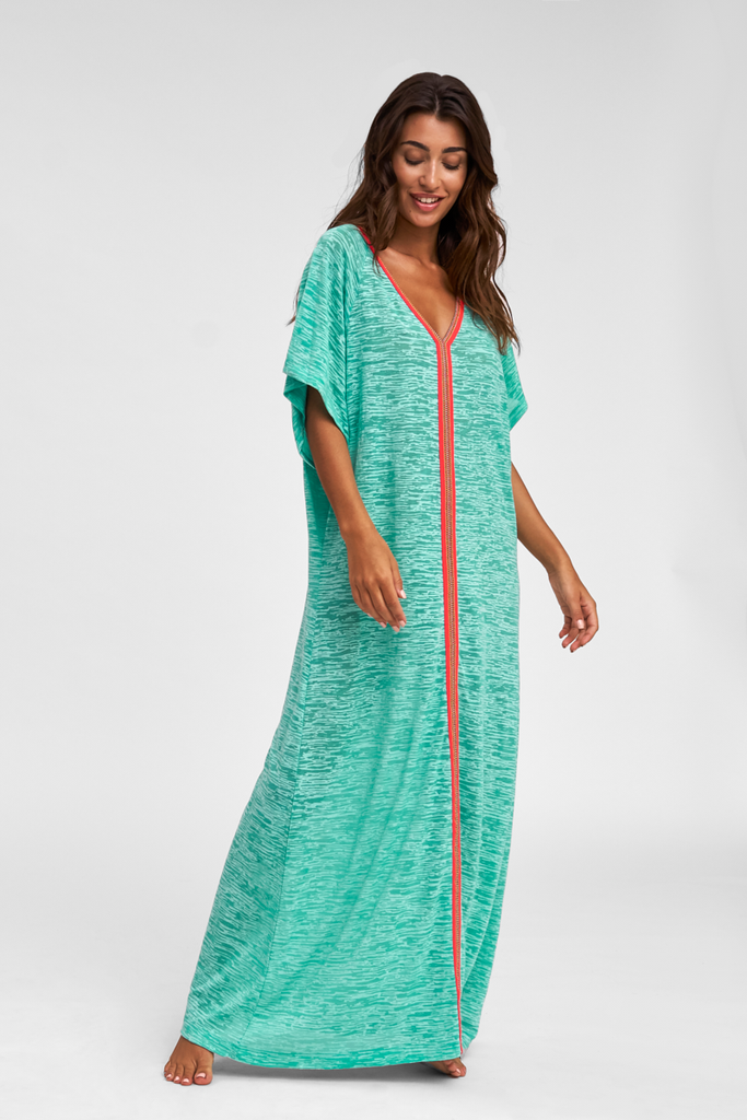 Abaya Maxi Dress in Turquoise