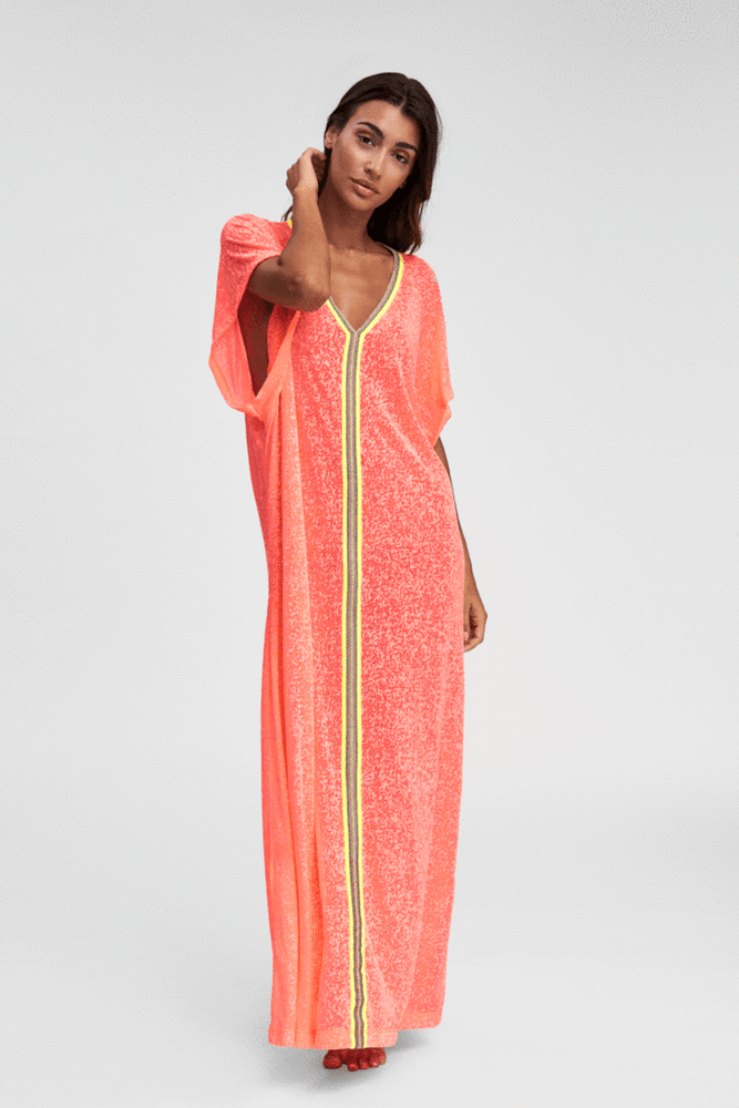Pink Watermelon Abaya Beach Cover Up