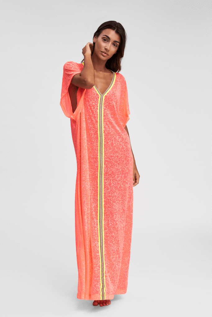Pink Abaya Beach Cover Up