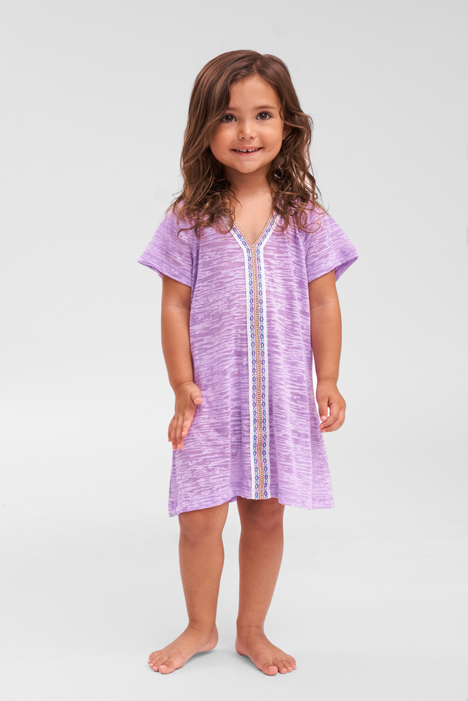 Childrens Beach Cover Up in Purple