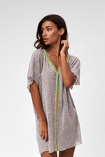 Pitusa Mini Beach Dress in Grey | Sand Dollar UK | Modern Abaya Beachwear