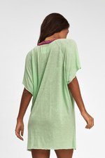 loose green beach cover up | Sand Dollar Uk