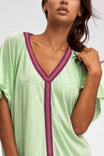 Premium Mini Abaya Beachwear in Green | Sand Dollar UK