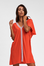 Pitusa Luxury Beachwear Cover Up In Orange | Sand Dollar UK