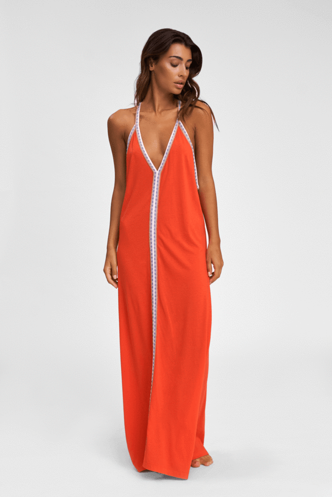 Orange Premium Cotton Sundress