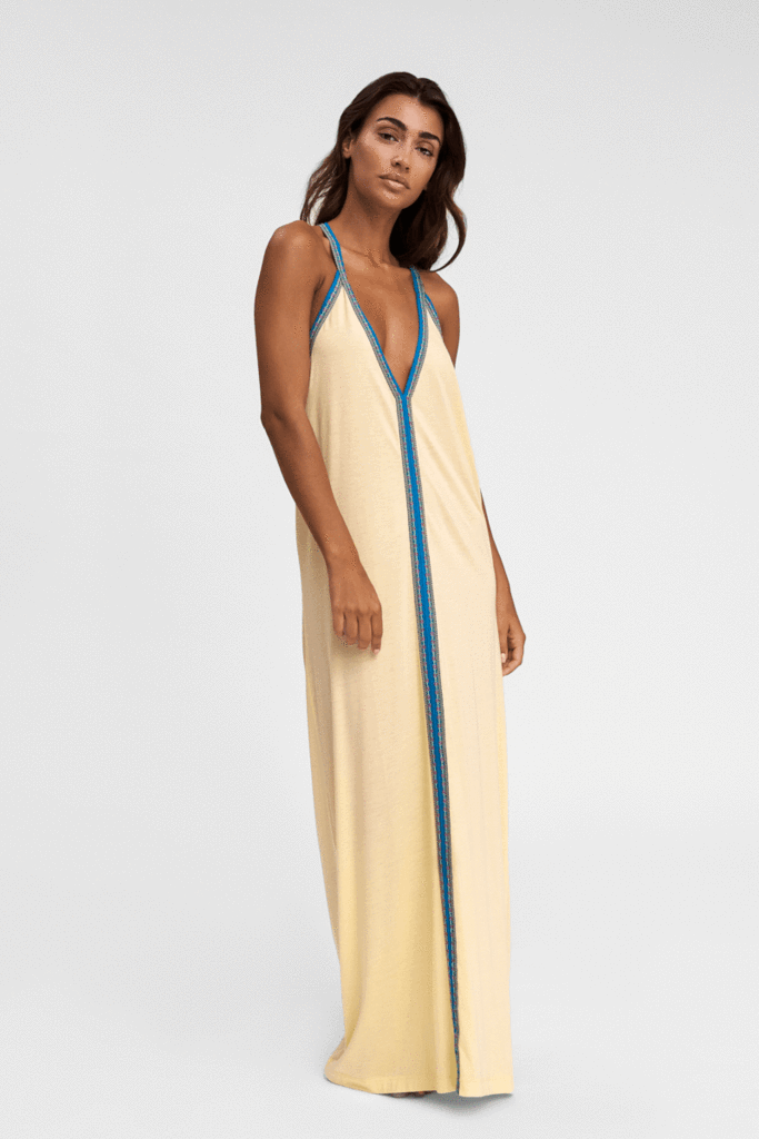 Pitusa Yellow Pima Cotton Beachwear