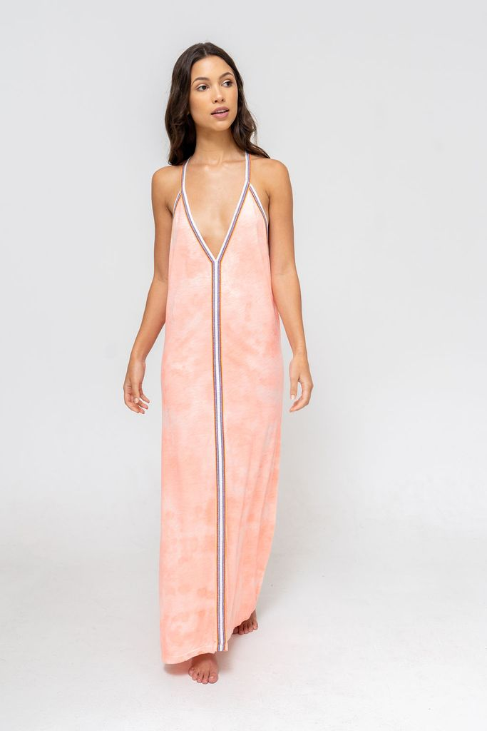 Tie Dye Sundress in Coral