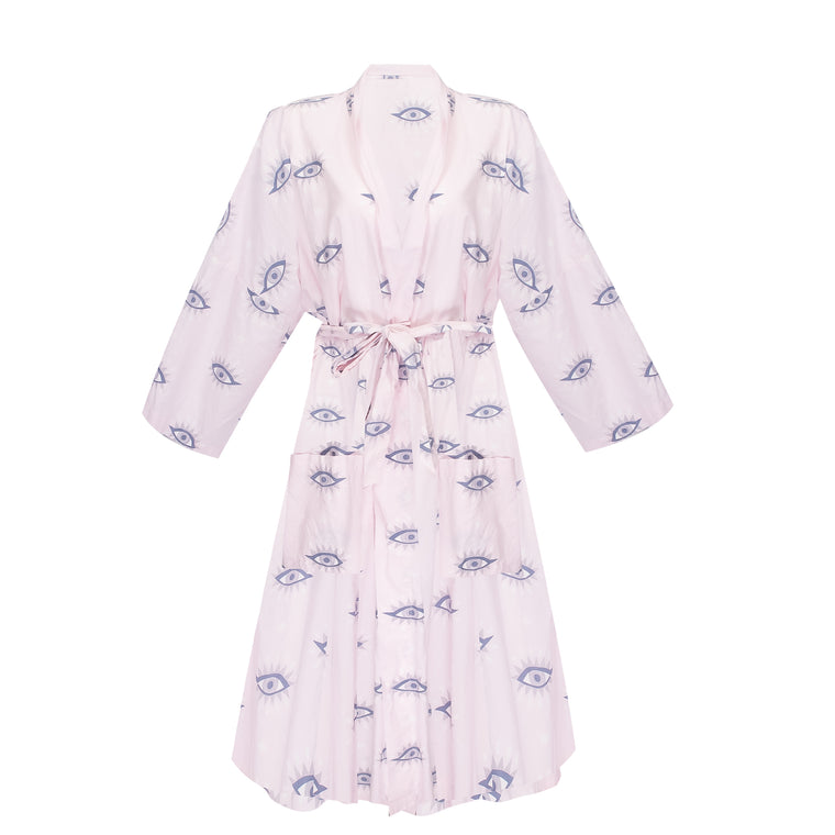 Eyes of the World Robe in Blush
